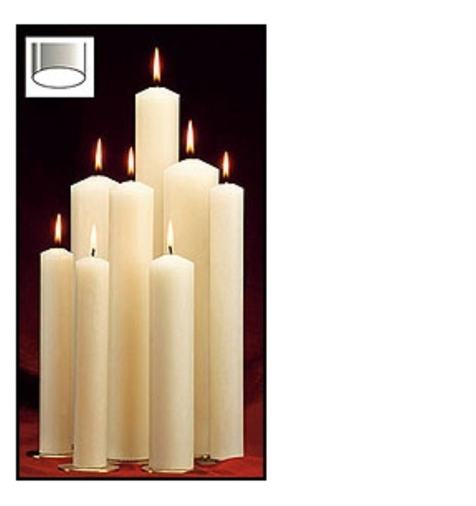 US Gifts Altar Brand Short 6 Self-fitting End Candle 51% Paraffin Wax 3/4 x 10 5/8
