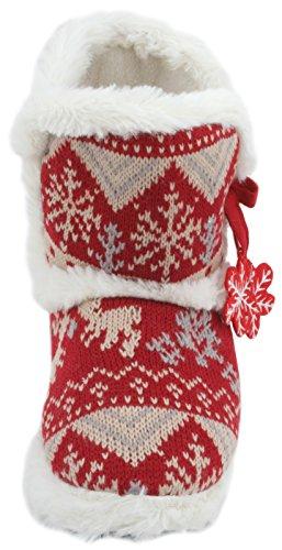 SlumberzzZ - Zapatillas de estar por casa de Material Sintético para mujer Rojo