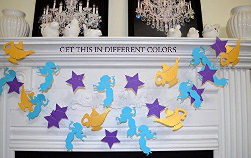 Princess Jasmine Birthday Party decor, Aladdin Magic Lamp, Princess room decorations, Princess Jasmine banner garland, Photo prop, Gold lamp