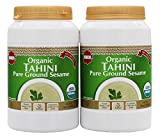 Baron's USDA Organic Tahini - Pure Ground Sesame Kosher 16-ounce Jars (Pack of 2)