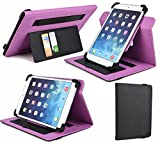 BLACK|PURPLE 7-8 INCH UniversalTablet Case| Cover W/Multi Viewing Angles. Compatible HUAWEI :MediaPad T1 7.0, MediaPad X2