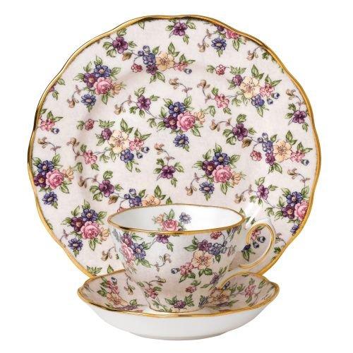 Royal Albert 3 Piece 100 Years 1940 Teacup, Saucer & Plate Set, 8