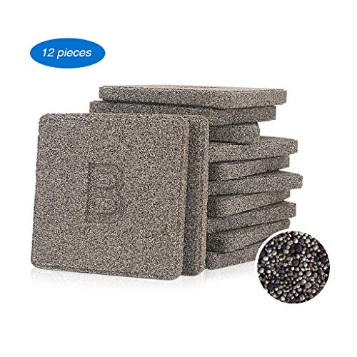 boxtech Aquarium Filter Media, 12 Pcs Block Bio-Filter Media for Marine and Freshwater Aquariums