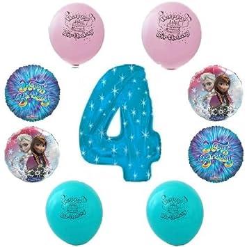 Disney Frozen Happy 4th Birthday Party Balloon Decoration Kit