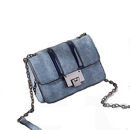 Azul para Bolso Mujer 12 Color Bandolera Azul x 17 Color Claro WDBB cm aF4wxXnX