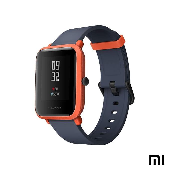 AMAZFIT Bip Xiaomi Smartwatch Monitor de Actividad Pulsómetro Ejercicio Fitness Reloj Deportivo (Versión Internacional) Red