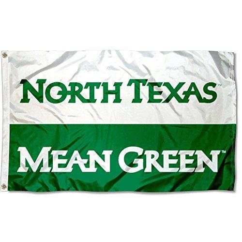 North Texas Mean Green UNT University Large College Flag (Unt Flag)