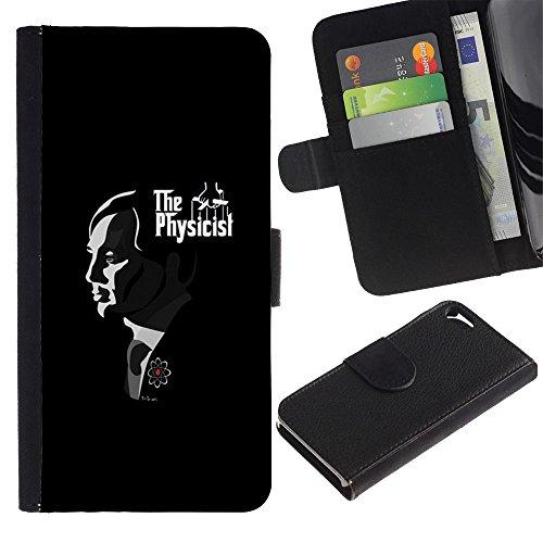 LASTONE PHONE CASE / Luxe Cuir Portefeuille Housse Fente pour Carte Coque Flip Étui de Protection pour Apple Iphone 5 / 5S / Father God Movies Famous