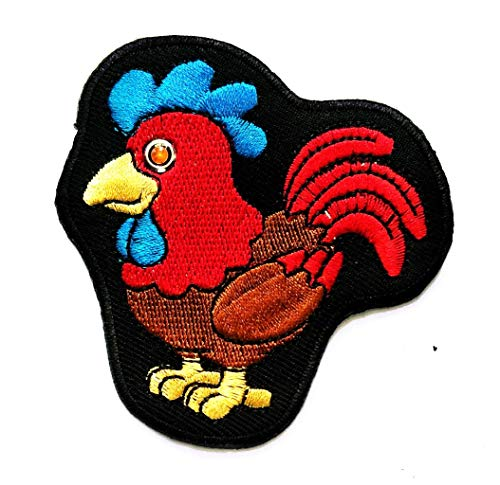 (Nipitshop Patches Chicken Farm Animal Bird Patches Sticker Cartoon Kids Design Badges Iron On Sewing Kids Clothing Hat Shoes)