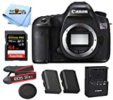 Canon EOS 5DS R DSLR Camera (Body Only) Includes SanDisk 64GB Extreme PRO UHS-I SDXC Memory Card and LPE6 Replacement Battery (Lens Not Included) - International Model