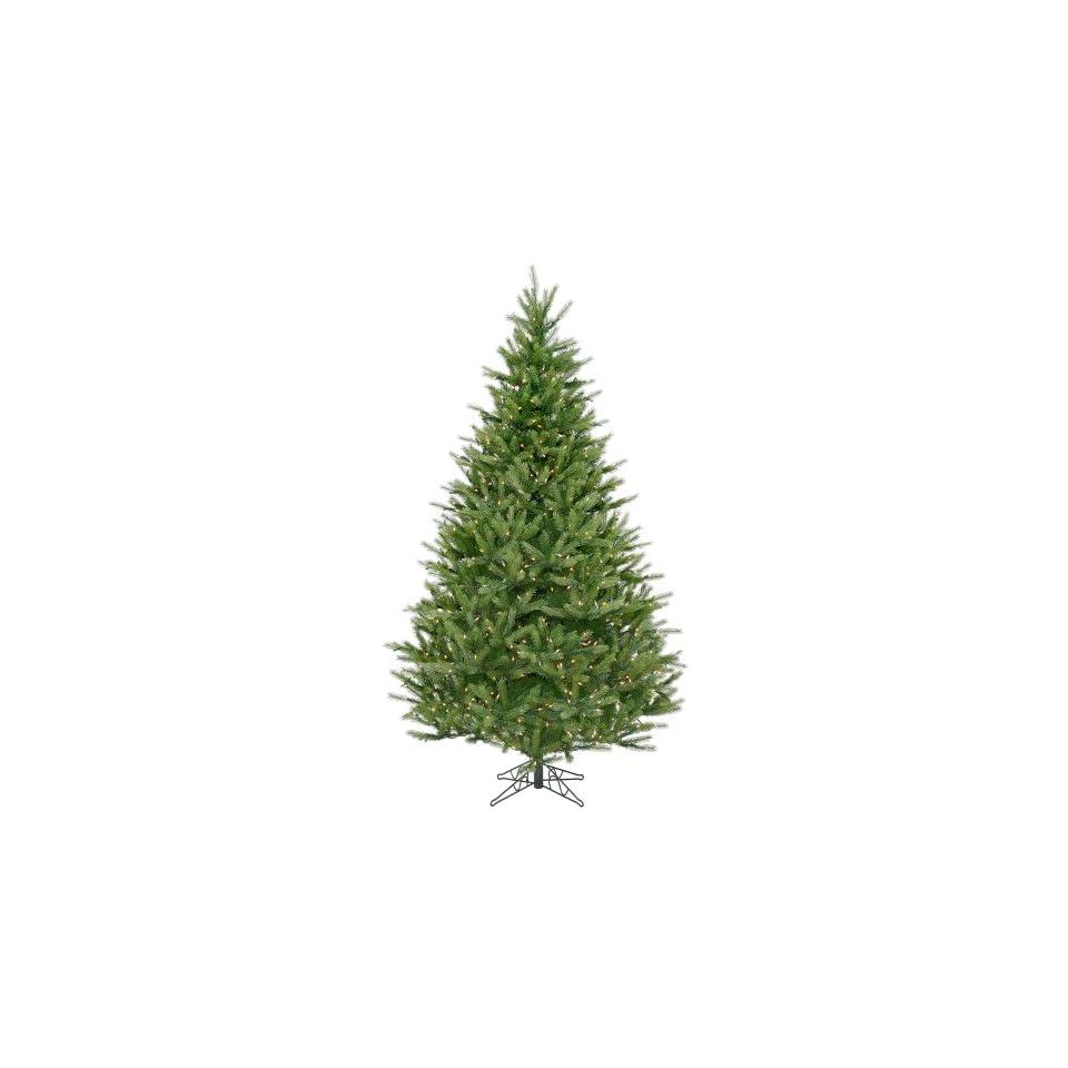 9 Pre Lit Full Bavarian Fir Christmas Tree   1400 Clear Lights