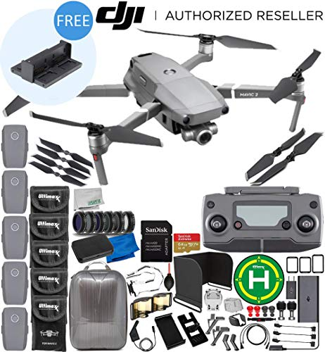 DJI Mavic 2 Zoom Drone Quadcopter with 24-48mm Optical Zoom Camera 5-Battery 64GB Ultimate Bundle