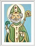 Saint Patrick print St Patrick print St Patrick painting Saint Patrick painting Saint picture Catholic art Catholic saint print Catholic painting Patron saint St Patricks day Religious wall art