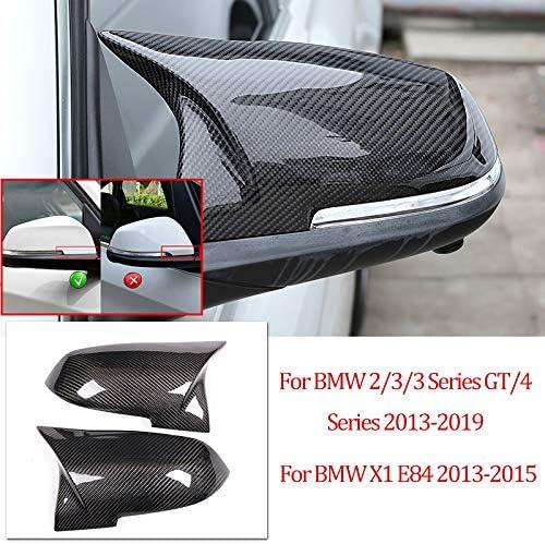 Dmwfaker Für BMW 2 3 3er GT F20 F22 F30 F31 F34 F32 F33 X1 E84, Kohlefaser-Ersatzteile Seitliche Rückspiegel Deckelabdeckungen Links