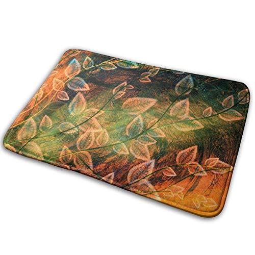 DENETRI DYERHOWARD Bath Mat Fallen Leaf Non Slip Bath Rug Washable Bathroom Soft Kitchen Floor Door Mat