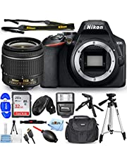 $609 » Nikon D3500 DSLR Camera with 18-55mm VR Lens 1590 - Pro Bundle Includes: Ultra 32GB SD, Flash, Tripods, Gadget Bag, HDMI Cable and More