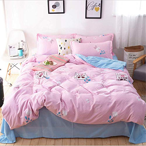 SSHHJ Bedding Sets Duvet Cover Set Pillow Cases Home Textiles Adult Bedclothes F 180x220cm ()