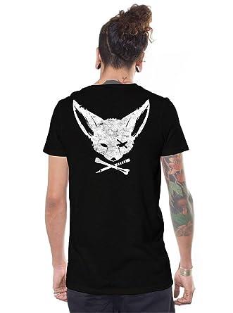 9774cbe6 Amazon.com: Men's Print T-Shirt Cross Bone and Dagger Fox Pirate Black  Urban Skate Top: Clothing