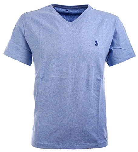 (Polo Ralph Lauren Men's Classic Fit V-Neck T-Shirt Cotton (XL, Ocean Heater))