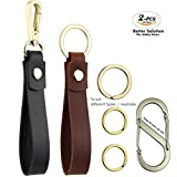 Best Key Ring For Straps - Genuine Leather Car Key Chain for Men Review