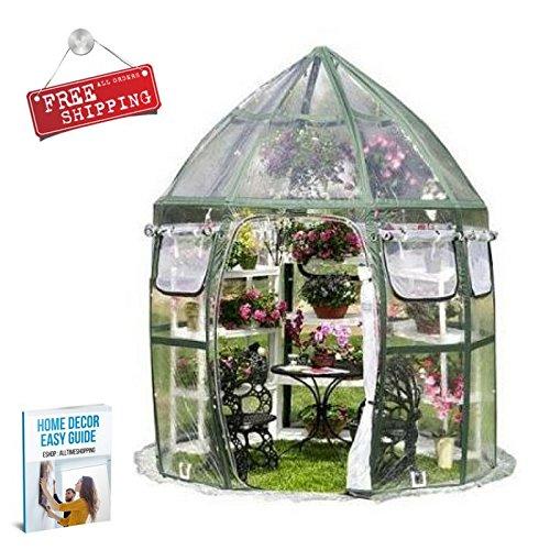 Flowerhouse Portable Greenhouse - ATS Portable Greenhouse Patio Small Greenhouse Shelving Sheeting Pannels Garden Flowerhouse Backyard Outdoor Home & eBook by AllTim3Shopping