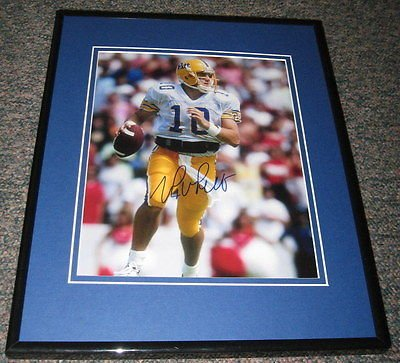 Alex Van Pelt Signed Framed 8x10 Photo JSA Pitt Bills