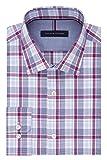 Tommy Hilfiger Mens Non Iron Slim Fit Plaid Spread Collar Dress Shirt,