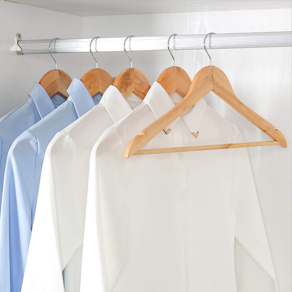 Perchas Antideslizantes de Madera Natural para Disfraces Camisas Pantalones Folewr-8 Vestidos etc.