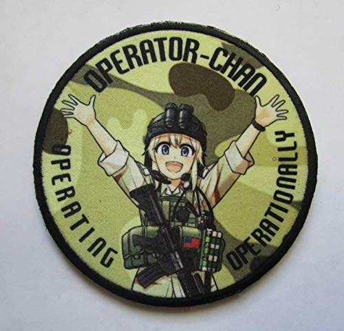 Operator Chan Military Patch Fabric Embroidered Badges Patch Tactical Stickers for Clothes with Hook & Loop ()