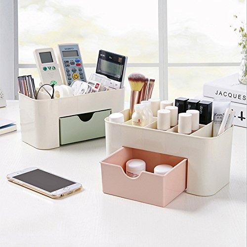Laconile multifunzionale organiser da scrivania trucco cancelleria organizzatore Tidy Holder Storage box per cucina casa ufficio camera da letto bagno 22x10.5x11cm Pink