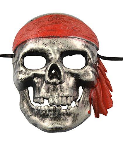 Pirate Skull Mask (Caribbean Pirate Halloween Mask)