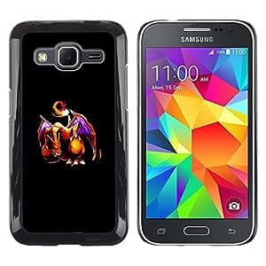 CASER CASES / Samsung Galaxy Core Prime SM-G360 / P0Kemon Dragon / Delgado Negro Plástico caso cubierta Shell Armor Funda Case Cover
