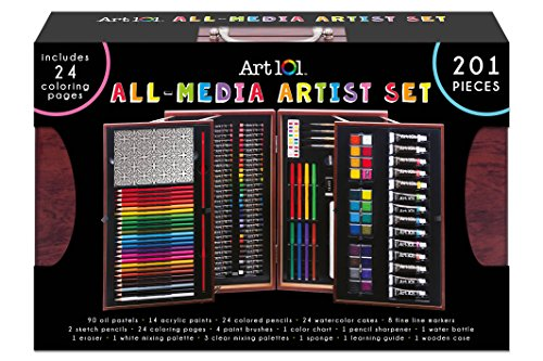 Art 101 Deluxe 201-Pc. Art Set in Wooden Case