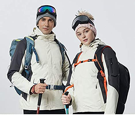 Lixibei Cycling Suits Ski-Suits Mountaineering Suit Outdoor Mountaineering Breathable Rain Coat Warm Ski Suit,A,M