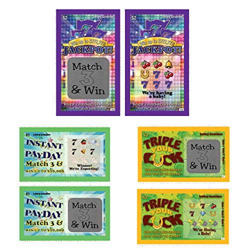Pregnancy Announcement - Variety Pack Lotto Replica - Scratch Off Card - 5 Pack - My Scratch -