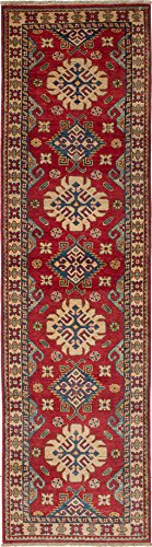 Ecarpetgallery Hand-knotted Finest Gazni Red 2' x 9' 100% Wool Traditional runner from eCarpet Gallery