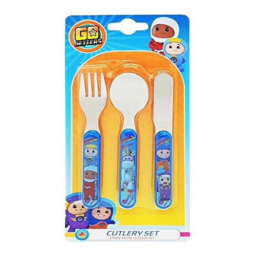 Go Jetters Cutlery Set, Stainless Steel, Multi-Colour, 1.5 x 11 x 23 cm DNC UK Ltd 557 1199