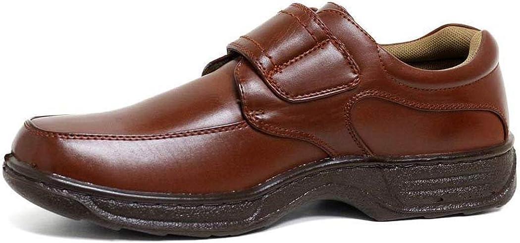 Mocassins Doubl/é de Cuir Chaussures /à Lacets et Chaussures /à Scratch Large Chaussures dhomme
