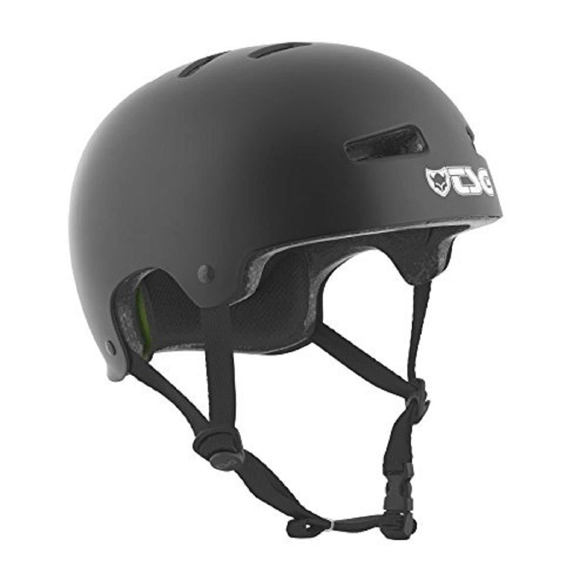 TSG - Evolution Solid Color - Helmet for Bicycle Skateboard (Satin Black, L/XL 57-59 cm)