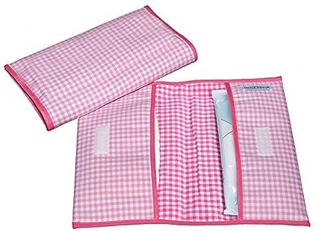Little de tejo holandés 3410 bolsa para pañales sucios rosa vichy-diseño de estampado a