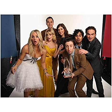 Cast Of The Big Bang Theory 8 X 10 Full Cast Photo Kaley Cuoco