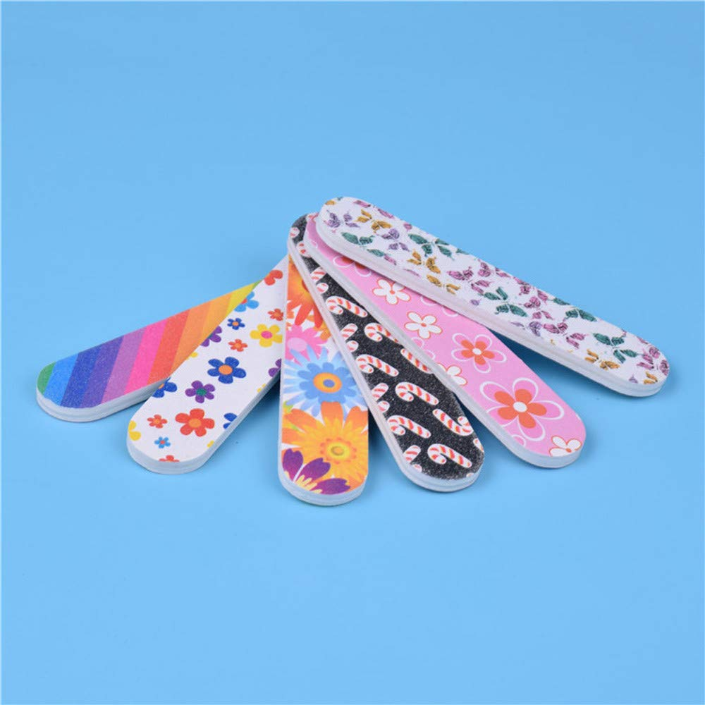 Nail Sand Strip Clearance , 12PCS Tools Art Nail File Grind Sand Block Double Sided Printing Polished Strip  by Little Story by Little Story (Image #5)
