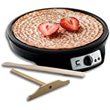 "Chefman 12"" Electric Crepe Maker & Griddle, Precise Temperature Control for Perfect Crepes, Blintzes, Pancakes, Eggs, Bacon and more, Non Stick, Includes Batter Spreader & Spatula"