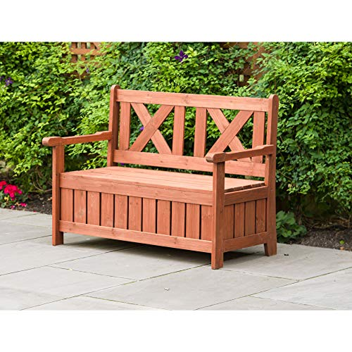 Leisure Season eisure Season SB6024 Wooden Backyard Brown-1 Piece-Patio, Balcony, Garden, Lawn, Park, Front Outdoor Bench with Storage