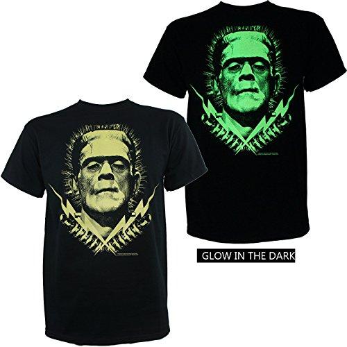 Boris Karloff Men's Frankenstein Bolts Glow in Dark T-Shirt
