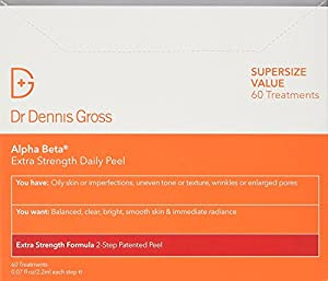 Dr. Dennis Gross Skincare Extra Strength Alpha Beta Peel, 60 Count