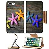 hot mom wi - Liili Premium Apple iPhone 7 Plus Flip Pu Leather Wallet Case iPhone 7 Plus 39233962 Happy mothers day with i love you mom message idea from colorful fabric starfish on wooden background abstra