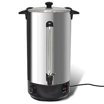Anself - Hervidor calentador de agua y vino con dispensador ...