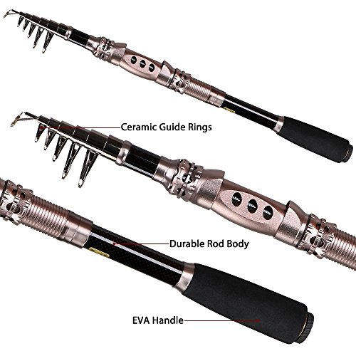 Telescopic Fishing Rod Eocusun Ultra Light 5 Types of ...