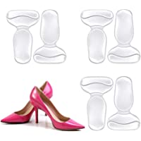 Silicone Heel Grips Gel High Heel Grip Inserts Liner Boot Shoe Insole Pad Foot Care Back of Heel Protector Cushion for Women 3 Pairs
